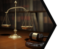 Scales of Justin and gavel in law library: Family Law Services